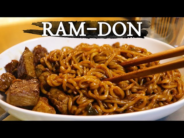 Ram-don from 'Parasite'   짜파구리   Cooking RPG