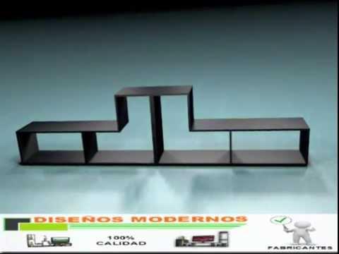 Mueble para pantalla dise os modernos 2 youtube for Disenos de modulares modernos