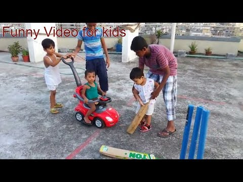 Johny & Johny playing by colorful toys  & cricket bat ball video for kids thumbnail