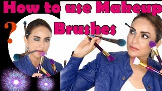 Best Makeup Brushes For Your Skin | How To Use Brushes For Makeup | Full Makeup Brush Set