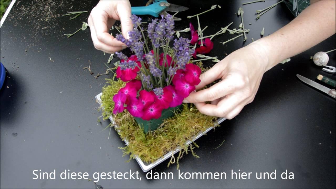 DIY - Dekoration: Blumengesteck mit Kronen-Lichtnelken selber ...