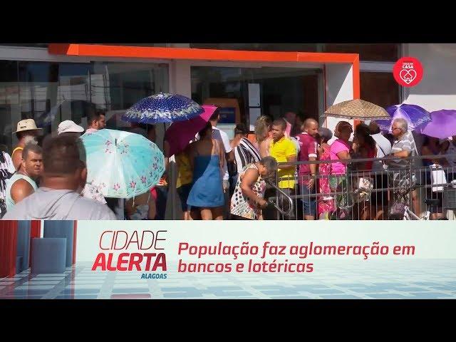 Coronavírus: população faz aglomeração em bancos e lotéricas