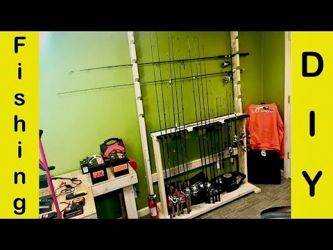 Homemade Rod Rack DIY (Wall Mounted Fishing Rod Holder)