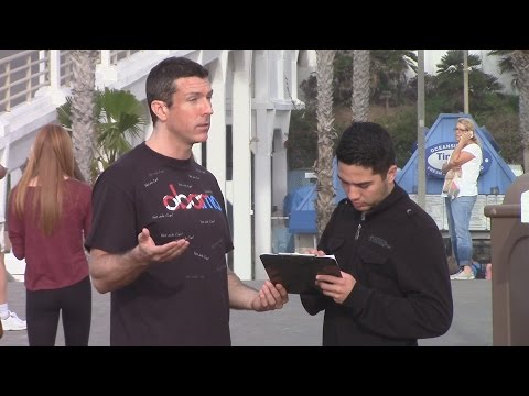Free ObamaCare for PETS - Crazy Petition Man on the Street with Mark Dice