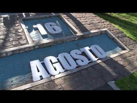 El calendario en la plaza de Gualeguaychú