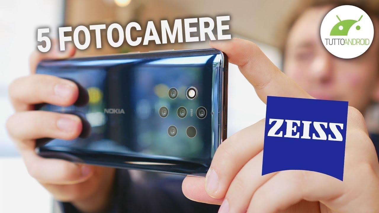 COME FUNZIONA la fotocamera di NOKIA 9 PUREVIEW: 5 SENSORI e lenti ZEISS!   ITA   TuttoAndroid