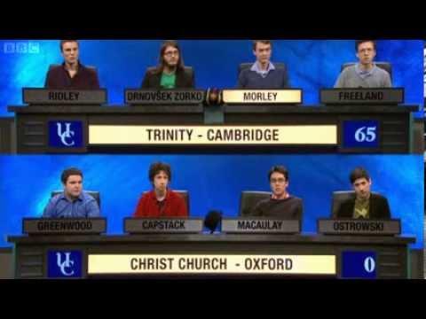 University Challenge   S43E3   Trinity, Cambridge vs Christ Church, Oxford