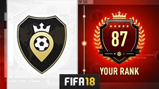 I GOT TOP 100 IN SQUAD BATTLES! - FIFA 18 Ultimate Team