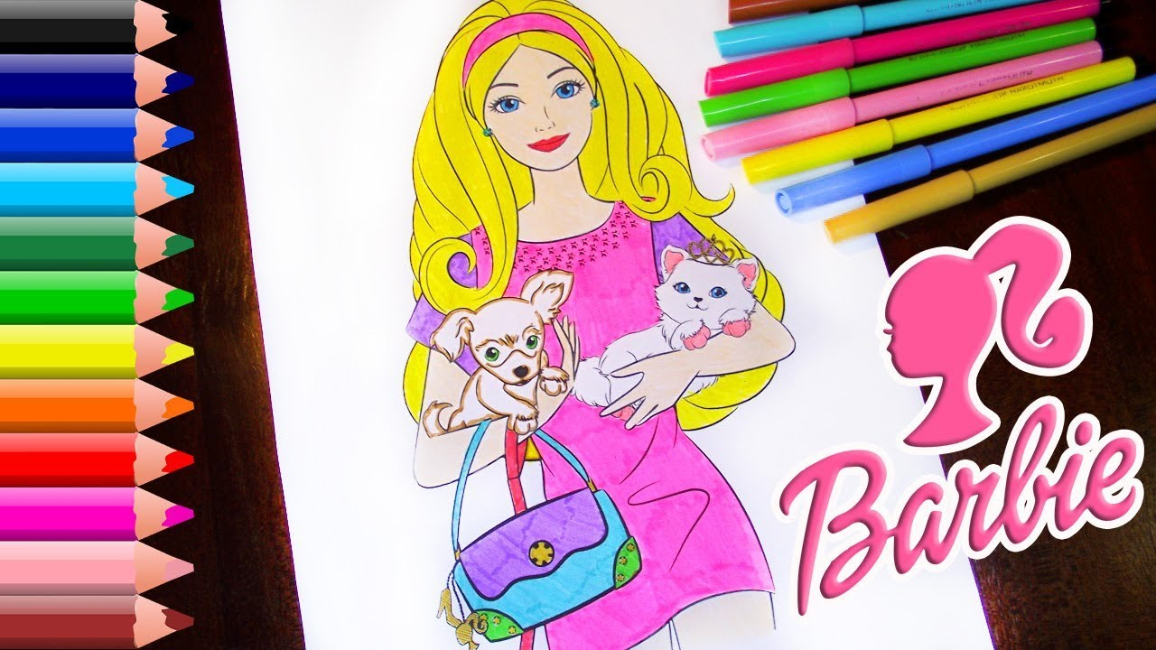 Barbie Logo Coloring Pages : Barbie coloring pages for children how to draw barbie coloring