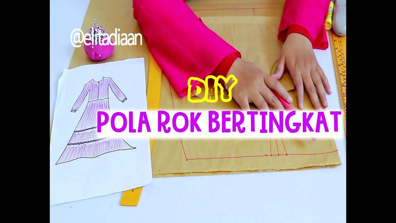 Cara Membuat Pola Rok Gamis Bertingkat Part 2 Sewing Vibes 25 Youtube