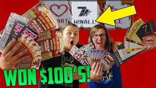 Got Free Lottery Tickets and WON $100's! Lottery Tickets Scratch Off