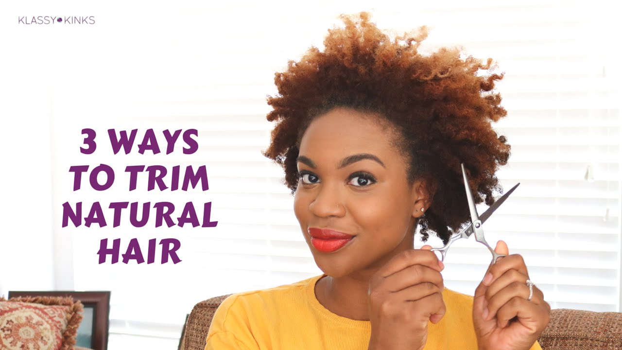 10 Ways to Trim Natural Hair by Yourself