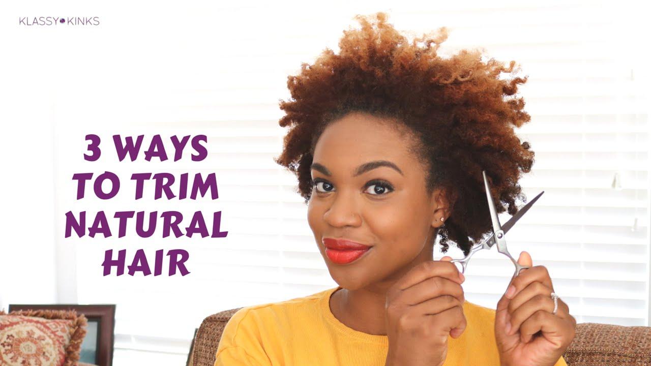3 ways trim natural hair