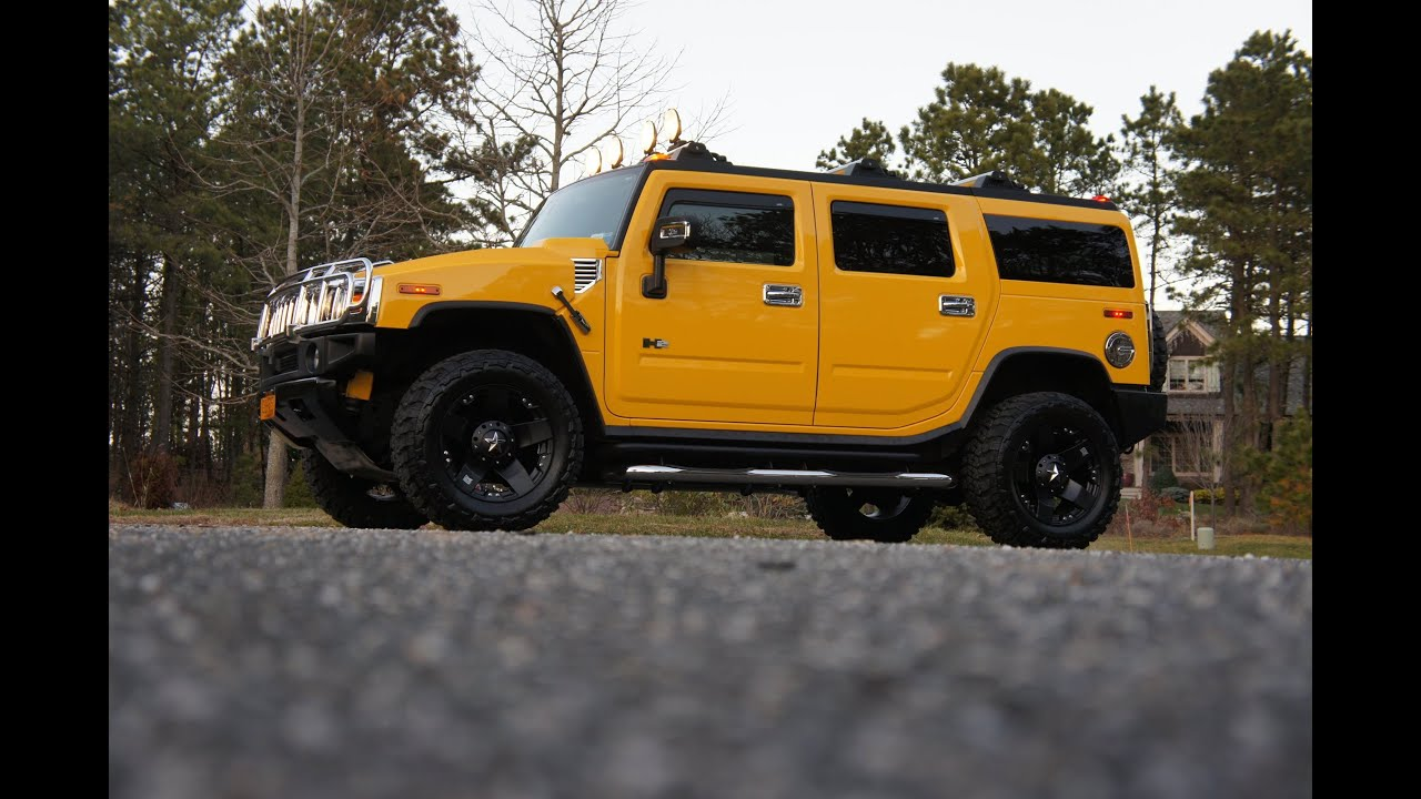 2006 Hummer H2 For Sale ly 24 717 Miles Yellow Black Navigation