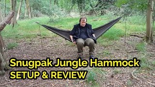 Snugpak Jungle Hammock with Mosquito net Setup (Fat Guys in the Woods)