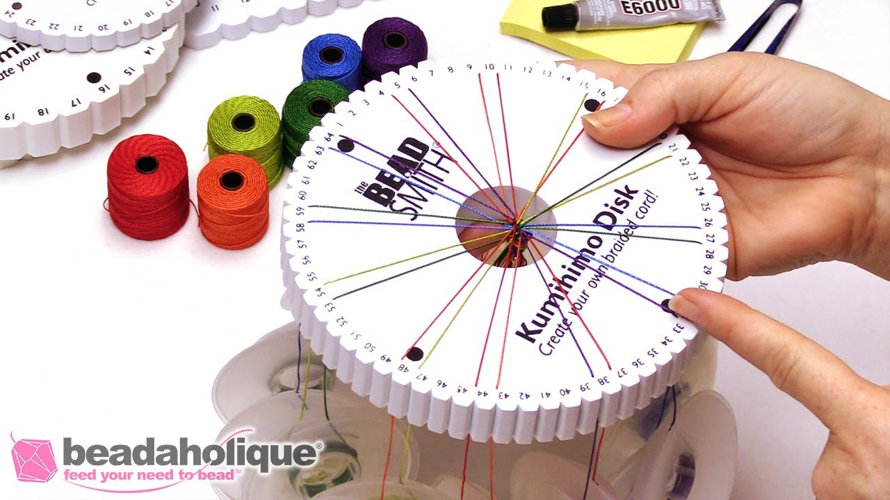 1 set of Kumihimo discs with instructions