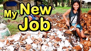 Life in Mindanao Philippines | My New Job Coconut Harvesting