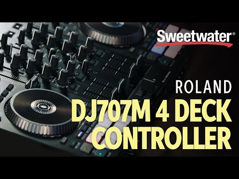First Look: Roland DJ-707M Serato DJ Pro Controller | Sweetwater