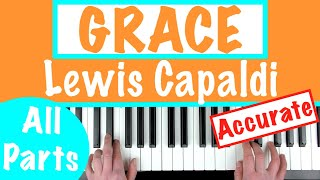 How to play 'GRACE' by Lewis Capaldi | Piano Chords Tutorial
