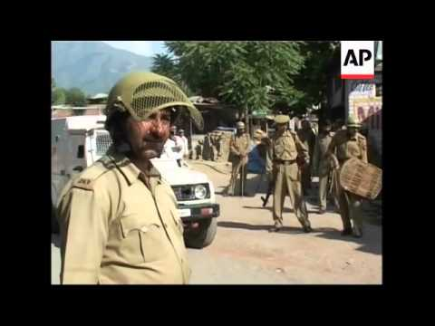 Police clash with protesters during strike in Indian controlled Kashmir