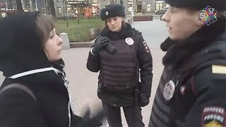 Задержание Ирины Яценко на Пушкинской 5.11.17