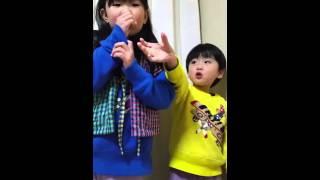 なりきり動画、5才と3才の姉弟がyoutubeテーマソングを歌ったらこうな...