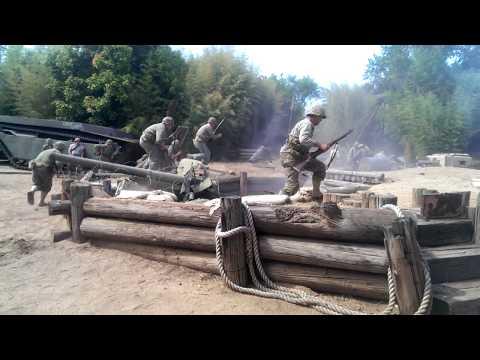 Tarawa battle, living history reenactment (Nimitz Museum)