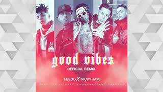 Fuego Feat. Nicky Jam, De La Ghetto, Amenazzy, C Tangana - Good Vibes