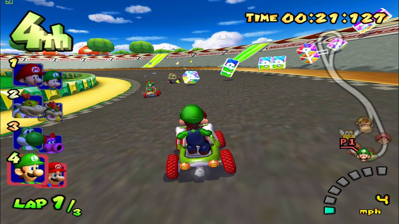 mario kart double dash gameplay