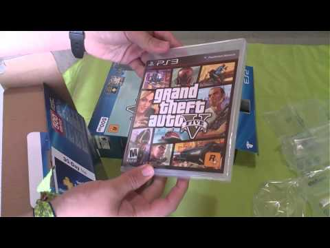 Unboxing | PlayStation 3 Super Slim 500 GB y GTA V | [AoVg]