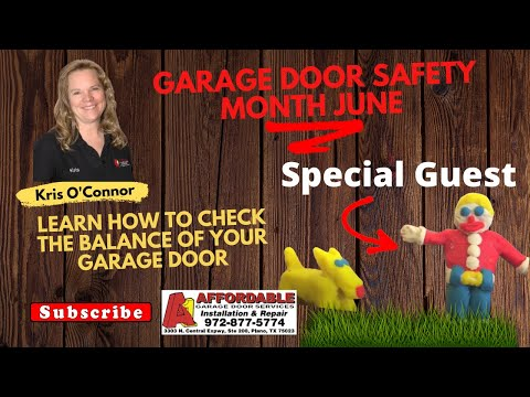 Check Garage Door Balance National Garage Door Safety Month Youtube
