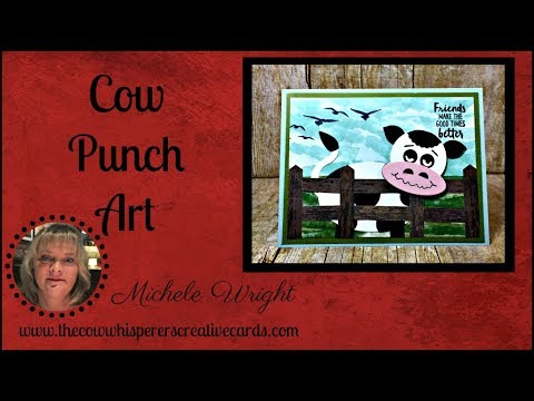 Cow Punch Art Card