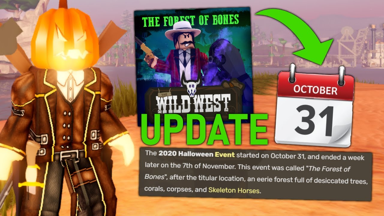 WHAT TO EXPECT IN THE WILD WEST HALLOWEEN UPDATE! (Roblox The Wild West)