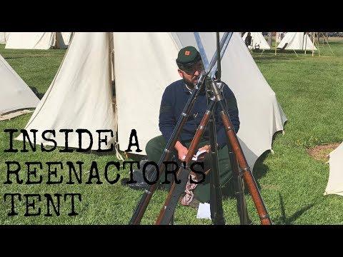 Inside a Reenactor's Tent - YouTube
