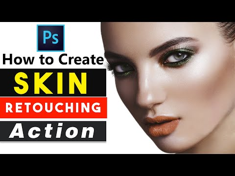 1-Click Magic Automatic Skin Retouching Photoshop Actions
