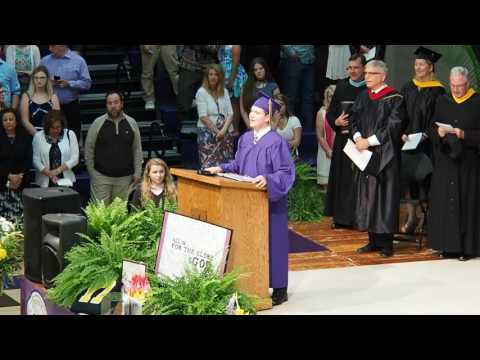 Lancaster Catholic High School Commencement - Alma Mater and Cap Toss - led by Brian Garfield