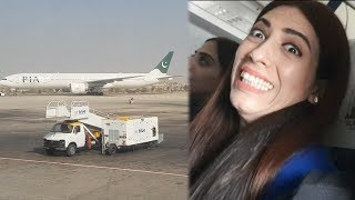 First Flight Of My Life Lahore to Karachi Flight Life With Amna