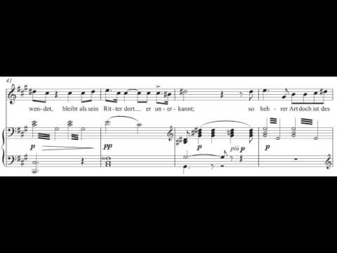 In fernem Land (Lohengrin - R. Wagner) Score Animation