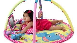 Review:  Baby Girl Animals Twist and Fold Activity Gym and Playmat