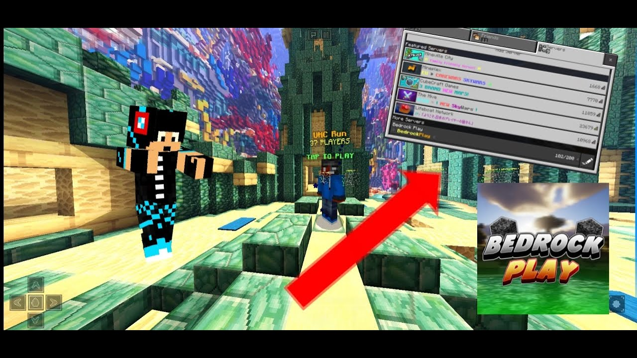 Best Minecraft Bedrock UHC server!! - YouTube