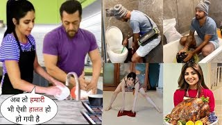 Bollywood Celebs Doing Housework after Servant's Leave in Lockdown-Salman,Aishwarya,Kanika Kapoor