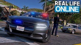 UNDERCOVER ALS COP UNTERWEGS! 😎 - GTA 5 Real Life Online