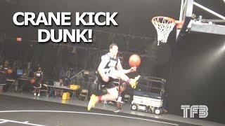 "Tyler Inman Debuts the ""CRANE KICK DUNK"" at the Dunk League! #SCtop10 Video"