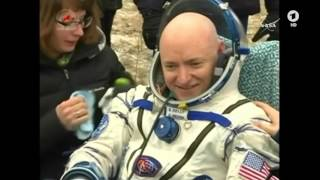 ISS astronauts return to Earth