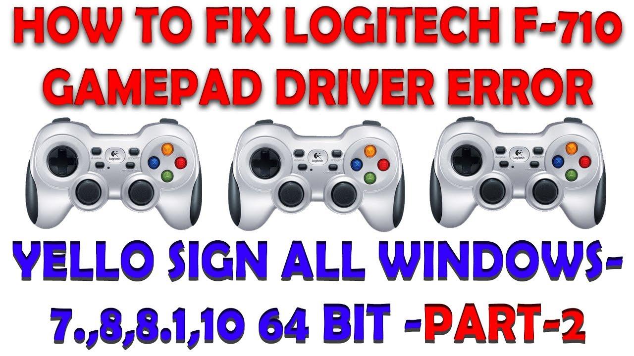 logitech f710 driver windows 7 32 bit