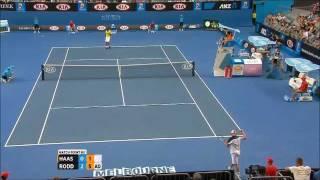 Andy Roddick Vs Robin Haase Australien Open 2012 1st Round Matchpoint HD
