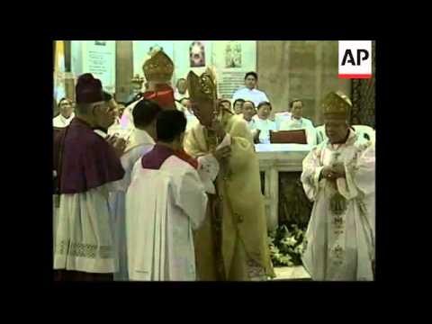 Retiring Cardinal Sin hands over