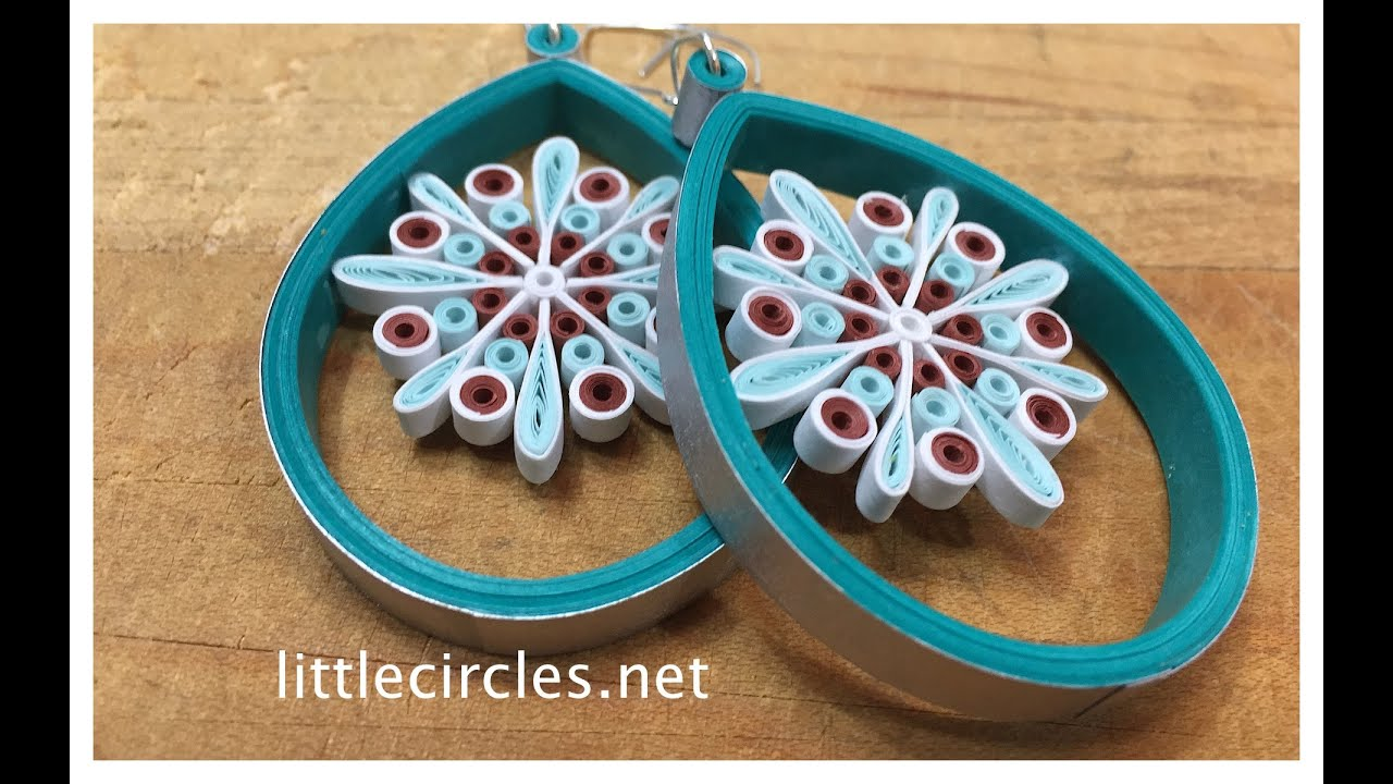 Papercraft Quilling Tutorial: Suspended Snowflake Earrings