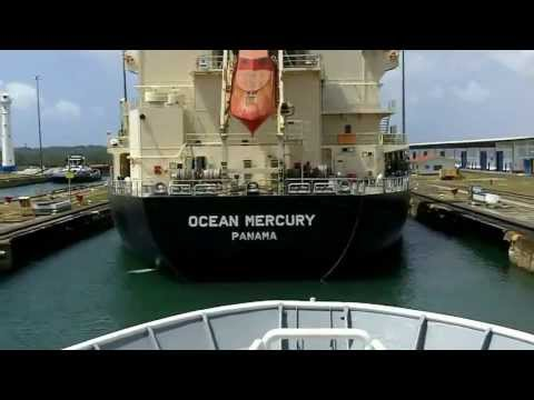 Panama Canal in 3 Minutes!!! Time Lapse video fast forwards 50 miles, 3 sets of locks, to 2.5 mins