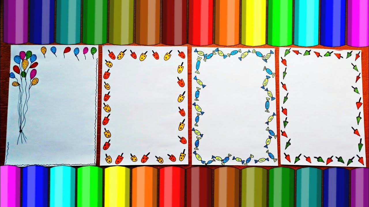 border designs on paper project design ideas how to decorate project file front page borders